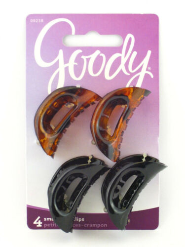 GOODY SMALL CURVED PAMELA CLAW HAIR CLIPS 4 PCS. 09238