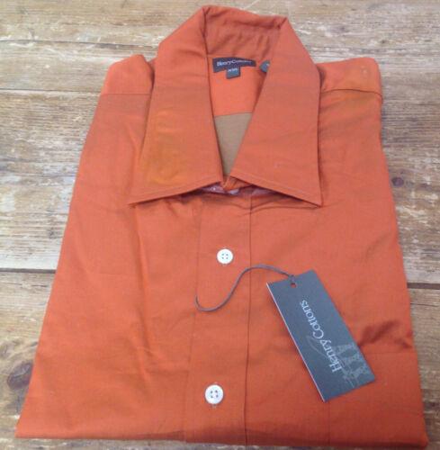 Henry Uomo Xxl Arancione Cotton Camicia Cotone Etichetta 824 Nuova Con 's ZxO1dpx