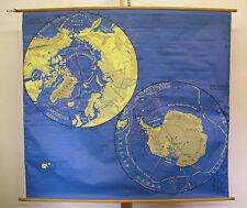 Schulwandkarte schöne alte Australien Artkis Antarktis 175x159c vintage map~1958
