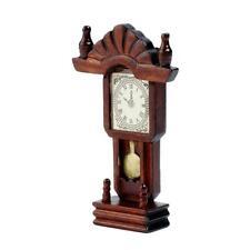 1:12 Dollhouse Miniature Wooden Classical Desk Clock Classic Furniture ToysB Wd