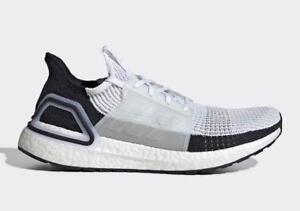 eb93bdb92f51d Adidas Running Ultra Boost 19 White Black Ultraboost Gym Men Shoes ...