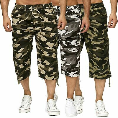 MENS 3//4 BIG SHORTS CAMO COMBAT ARMY sz 2XL 3XL 4XL 5XL