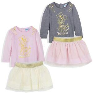 Disney-Minnie-Maus-Baby-Maedchen-Outfit-Kleidung-Set-Oberteil-Rock-Party-9-36-M