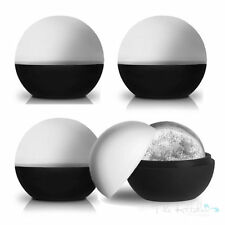 4 XL Round Ice Ball Mould Sphere Maker Large Silicone Whiskey G&T Drinks Moulds