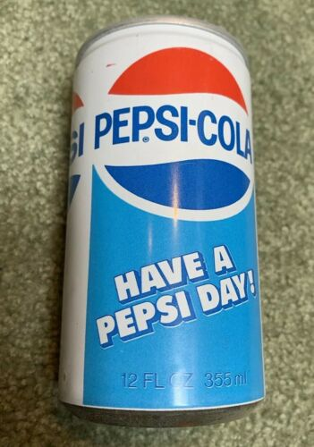 PEPSI COLA SODA METAL CAN PULL TAB TOP Un-OPENED VINTAGE 1970/'s HAVE A PEPSI DAY