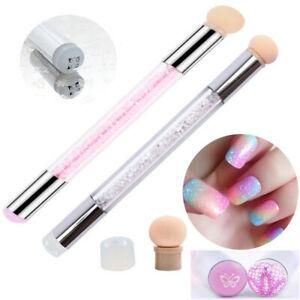 Details About De Pintura Uñas Pincel De Degradado Esponja Dotting Pen Silicona Stamper
