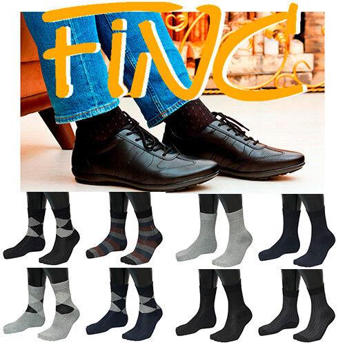 FINC COMFORT Men Business Socks Classic Style Cotton Long made in Korea