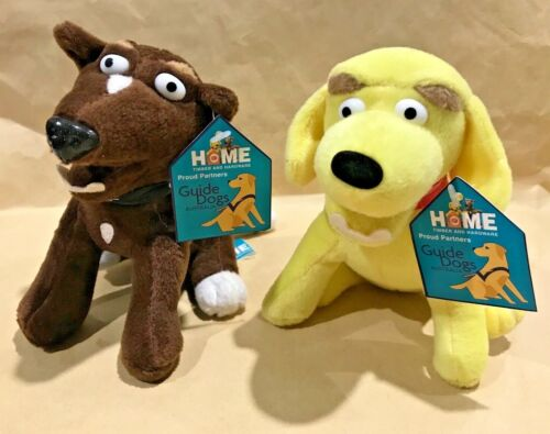 GUIDE DOGS PROMOTIONAL HOME HARDWARE DOGS SANDY /& RUSTY PLUSH TOYS! LIKE NEW