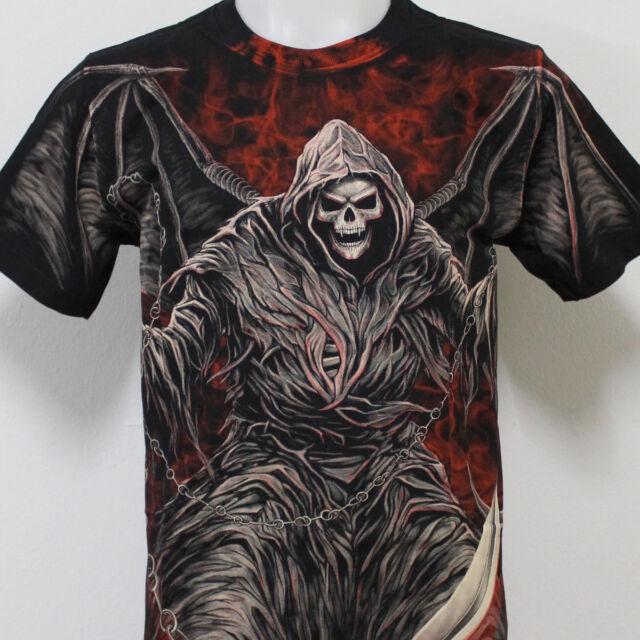 Grim Reaper Skull Tattoo Rock Eagle Discharge T-Shirt G23 New Size M L XL 2XL