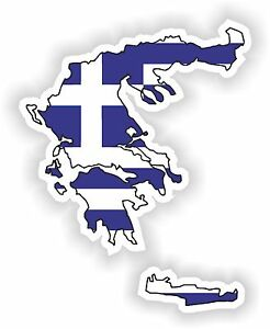 1x-STICKER-Greece-SILHOUETTE-FLAG-BUMPER-DECAL-MAP-FLAG