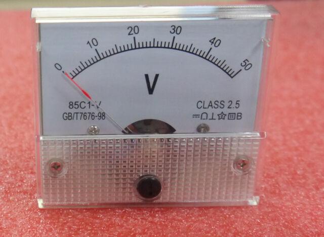 1pcs New DC 50V Analog Panel Volt Voltage Meter Voltmeter Gauge 85C1 0-50V  AK