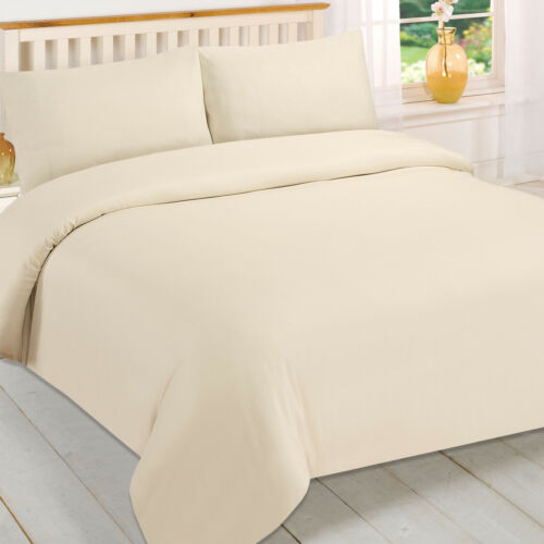 LUXURY PLAIN FLANNEL 100/% BRUSHED COTTON DUVET COVER SETS AT AN AFFORDABLE PRICE