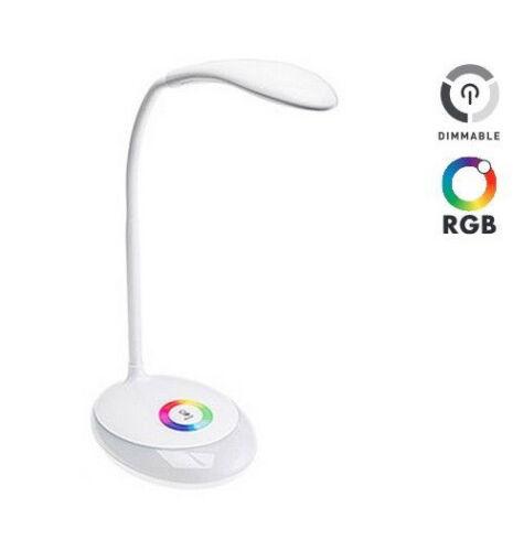 LED 3W Tischlampe Dimmbar USB-Anschluss RGB Bürolampe Tischleuchte