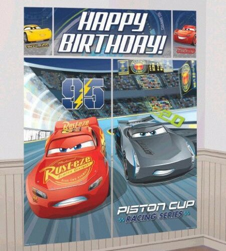 Disney Cars 3 Scene Setter Wall Decoration Poster Boy/'s BIRTHDAY Party Supplies