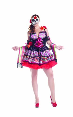 Party King Women/'s Day Of The Dead Plus Size Costume