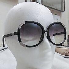 0b86e909dda1 Chloe Myrte CL2119 Black Silver Large Big Sunglasses Oval Frames 60-8-135