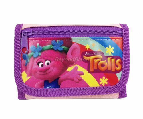 Disney Trolls Wallet Light Pink Children Boys Girls Wallet Cartoon Coin Purse