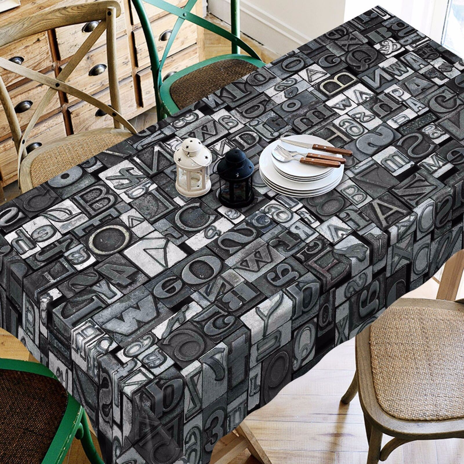 3D Letter 4544 Tablecloth Table Cover Cloth Birthday Party Party Party Event AJ WALLPAPER AU b2037a