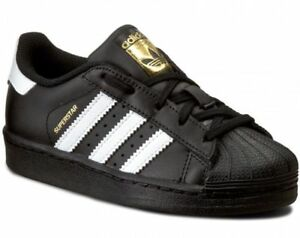 reputable site 79d6e 62a87 Details about Adidas Superstar I Bb9078 Shoes Baby Boy Girl Sports Sneakers  Black Leather