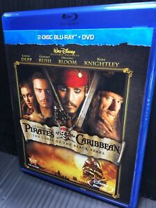 Pirates-of-the-Caribbean-Black-Pearl-Blu-ray-DVD-2012-3-Disc-Open-Good-Sparrow