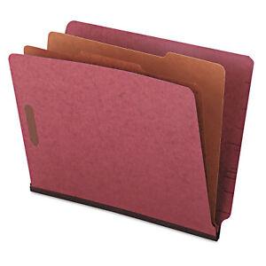 UNIVERSAL-Pressboard-End-Tab-Classification-Folders-Letter-Six-Section-Red-10