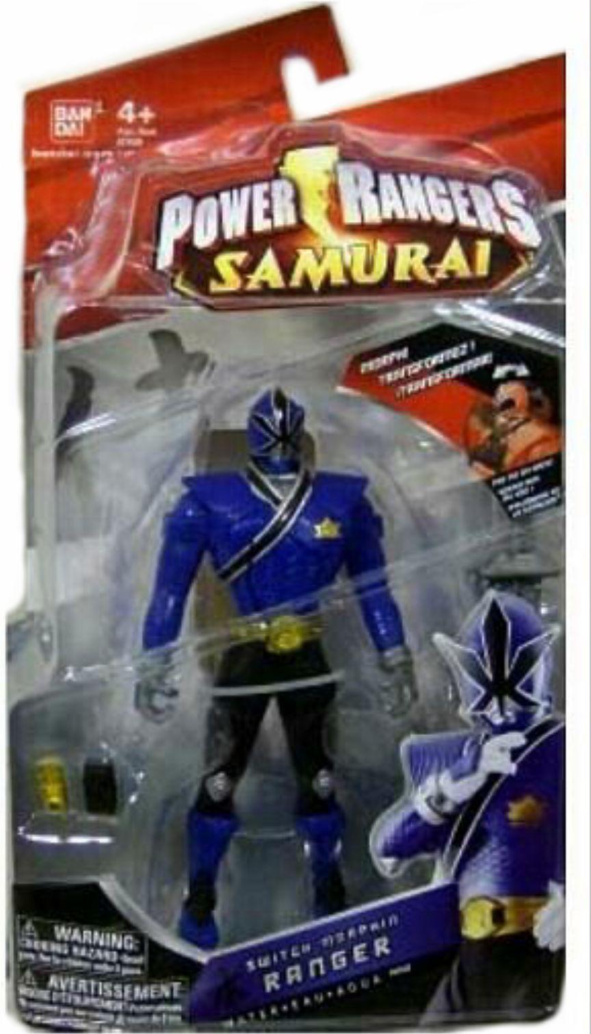 Power rangers samurai 7  switch morphin blaue ranger neue fabrik versiegelt 2011
