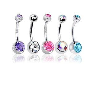 BODYA-Belly-Bars-Balls-Surgical-Steel-Belly-Button-Jewelry-Pack-of-5-Body