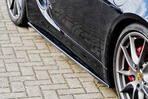 CUP-Seitenschweller-Schweller-Sideskirts-Schwert-aus-ABS-Porsche-Cayman-981