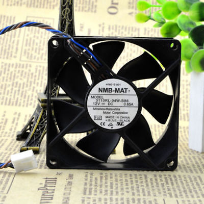 Original FOR NMB 3110RL-04W-B86 8025 12V 0.65A 4 Line 8CM Temperature Controlled Cooling Fan