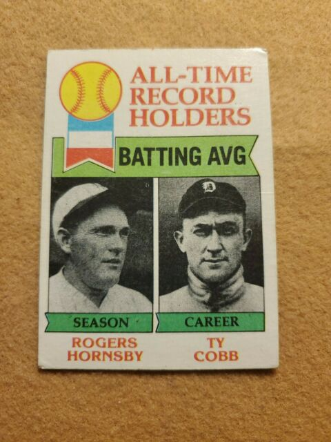 1979 Topps Ty Cobb/Rogers Hornsby Detroit Tigers #414 Baseball Card