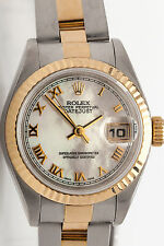 $10,000 Rolex OYSTER 18k Gold SS Datejust Ladies FACTORY MOP DIAL Watch & BOX