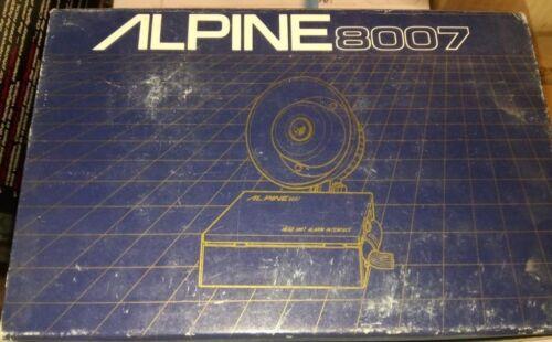Alpine 8007 Car Alarm w//SirenOld School Head Unit Security System New!