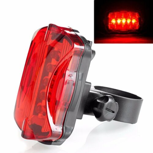5 LED Lamp Bike Bicycle Front Head Light Rear Safety Flashlight Waterproof Set-N