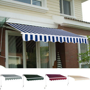 Manual Patio 8 2 215 6 5 Retractable Deck Awning Sunshade