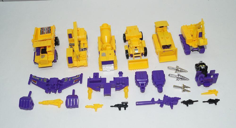 G2 Devastator casi completo 1992 Vintage figura de acción de Hasbro Transformers