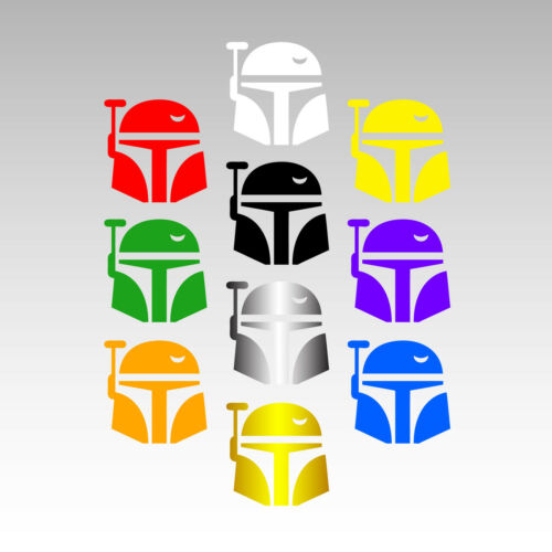 Boba Fett Helmet 4 Inch Vinyl Decal Star Wars Sticker Multiple Colors Available!