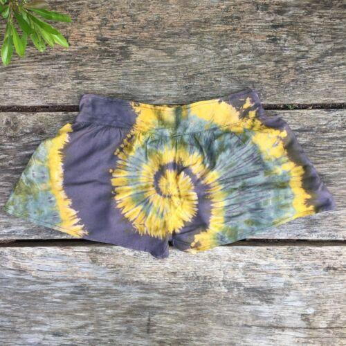S Tie dye Festival Shorts summer beach boho hippy hippie bohemian XS