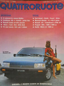 Quattroruote 344 1984 Anteprima:la nuova Alfetta.Prove ...