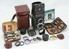 Rollei Rolleicord Vb vintage waist level camera, lens Xenar 3,5/75 & Many Extras