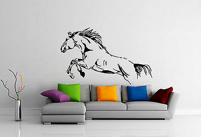 Wild Horse Mustang Jump Freedom Animal DECOR Wall MURAL Vinyl Art Sticker M334