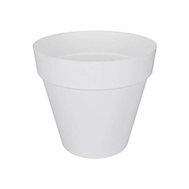 elho Loft Urban Round Vaso da Giardino, Bianco, 24.5x24.5x22.2 cm