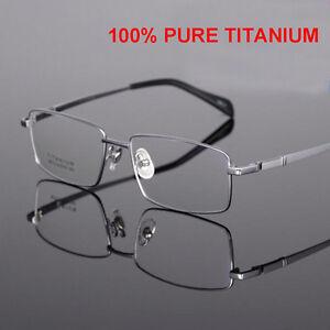 3b43987300f Gentry Men`s Titanium Full Frames Glasses for Custom Prescription ...