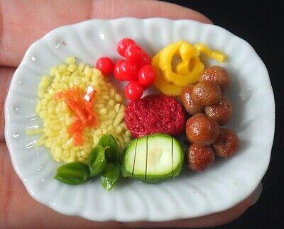 1:6 Dollhouse Miniatures Mixed Ham /& Sausage Dinner Food Deco Barbie Blythe