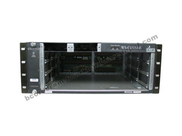 Cisco WS-C6503-E 3-Slot 6500 Chassis w/ WS-C6503-E-FAN - 1 Year Warranty