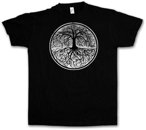 T-SHIRT YGGDRASIL TREE LOGO II Arse Celtic Irminsul Of Thor Life Weltenbaum