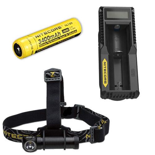 Nitecore HC30W XM-L2 LED Faro 1000Lm con UM10 Cargador y NL189 Batería de 18650