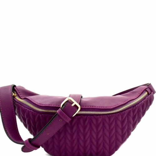 Chevron Quilted Fashion PU Leather Fanny Pack