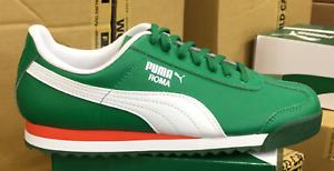 b858176f864218 PUMA Roma Basic Jr GS Kid s Running Casual Shoes Green White 354259 ...