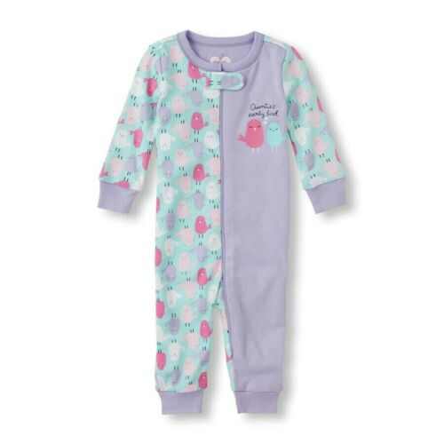 THE CHILDREN/'S PLACE 1PC AUNTIES EARLY BIRD FOOTLESS STRETCHIE PAJAMAS 0-3M 2T