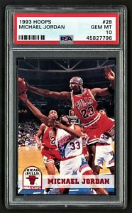 1993 HOOPS MICHAEL JORDAN #28 CHICAGO BULLS HOF LAST DANCE ***PSA 10 GEM MINT***